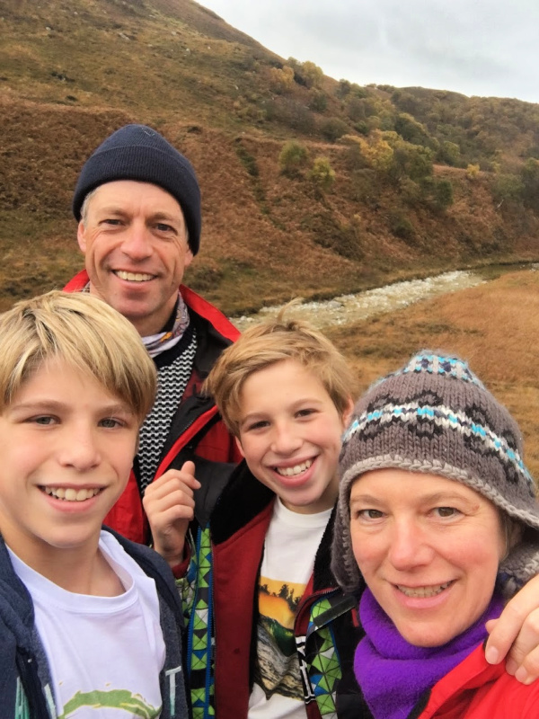 Host Family out hill walking