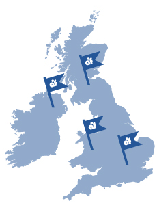 UK Placement Map